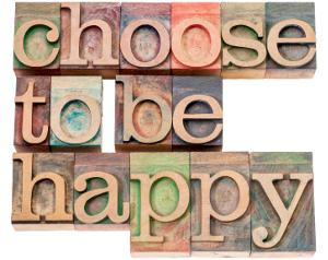 Happiness comes from the choices we make
