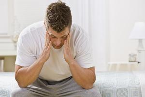 Image of man tired
