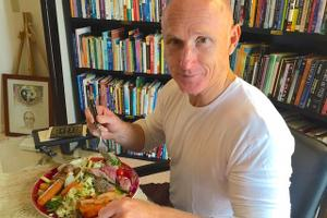 Man Eating Healthily