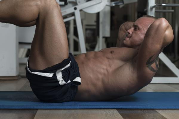 Body Builder Doing Crunches
