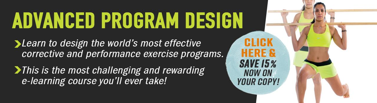 Save 15% on Advanced Program Design!